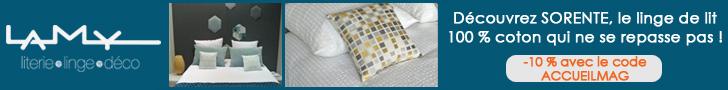 Lamy linge de lit sans repassage